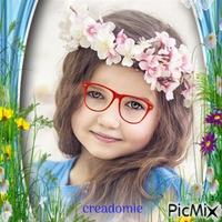 Petite fille a lunettes