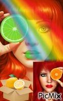 Frutas y color