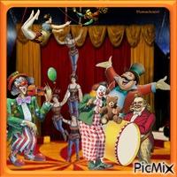 Une soirée au cirque.