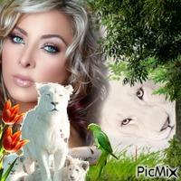La femme aux lions