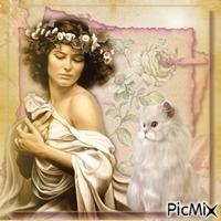 Schöne Frauen mit schönen Katzen ...