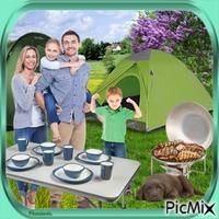 Camping en famille.