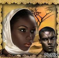 Belos jovens africanos