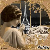 Paris vintage la nuit