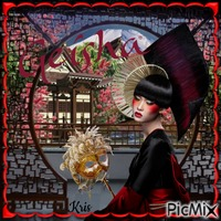 Geisha et masque
