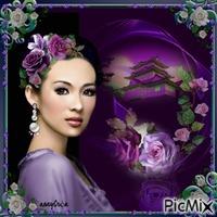 Lyana et les roses