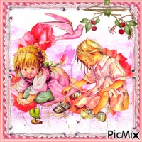 Carte postale pour petite amie - Dessin