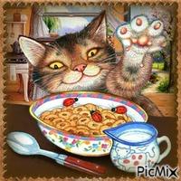 Hungriges Kätzchen - Malerei / Wettbewerb