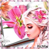 La  belle au fleurs de lys