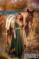 Lady And Her Horse