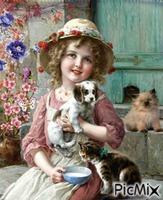A menina que gosta de animais.