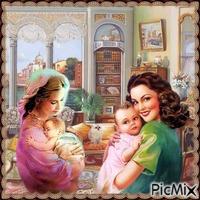 2 Freunde mit 2 Babys
