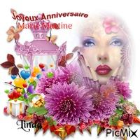 Bonne anniversaire a mon amie Marie Martine
