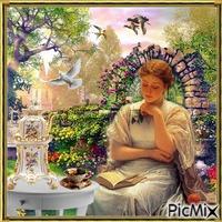 Entspannt lesen im Garten