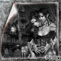 Couple gothique.
