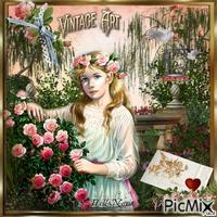 Jeune fille en fleur pour Fleurs 49