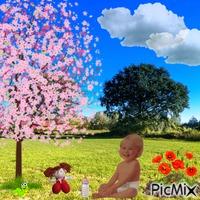 Springtime for baby