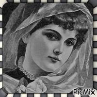 Portrait de femme vintage - Noir et blanc