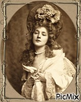Portrait de femme vintage