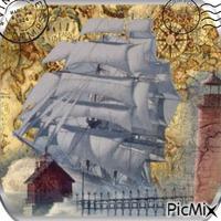 carte postale voilier
