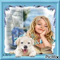 Carlie et son chien