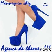 mannequin chez AdT bleu