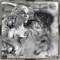 Dragons et licorne.