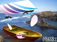 la mer la barque et le visage