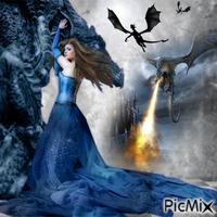 femme et dragons