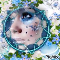 Des fleurs bleus