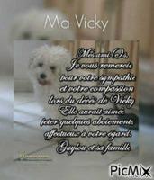 Repose en paix Vicky....Le petit chien a Guylou