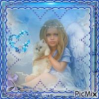 l'ange bleu du bonheur