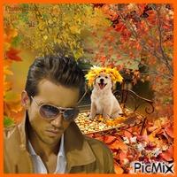Homme en automne.