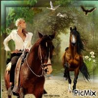 A Dama e os cavalos