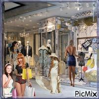 Schaufensterbummel und shoppen
