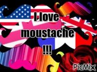 the moustache!