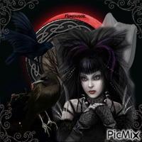 Gothique avec un corbeau.