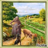 Die alte Frau und das Schwein