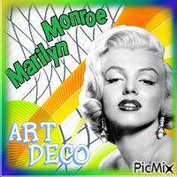 Maryline Monroe art déco