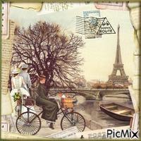 Pariser Postkarte - Vintage Wettbewerb