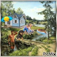 Ferienhaus am Fluß