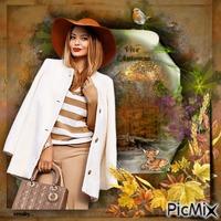 Fille à la mode en automne