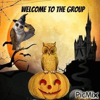 welcome owl halloween