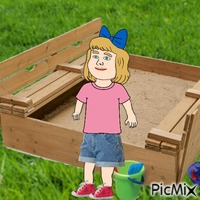 Baby and sandbox