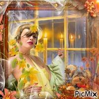 woman autumn