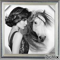 Cloé et son cheval