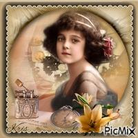 Portrait d'une petite fille - Vintage