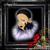 Black Portrait of Pierrot...