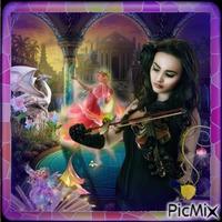 femme violon
