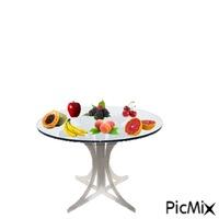 mesa com fruta